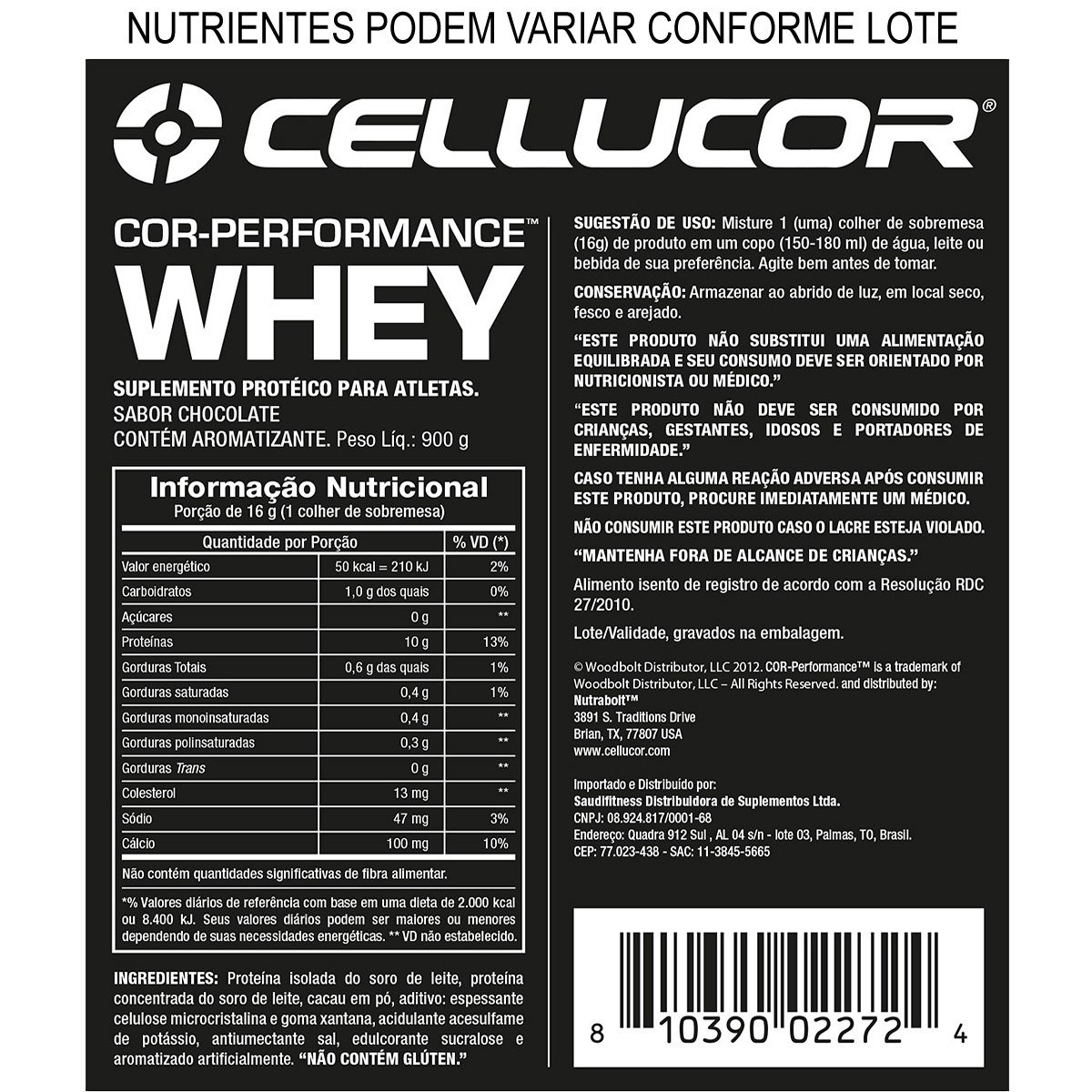 Cellucor Cor Performance Whey Protein 900g