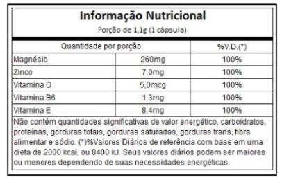 ZMA Oryzanol Arnold Nutrition 60 Capsulas