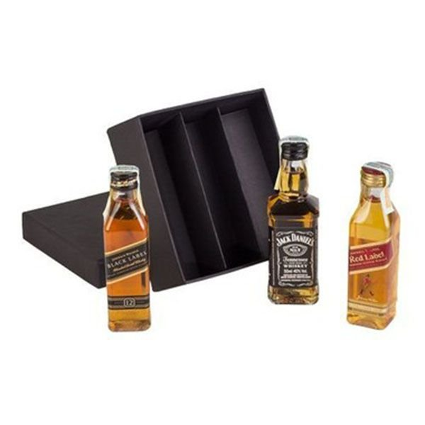 Kit 3 Whiskys Mini 50ml Black Label, Jack Daniels e Red