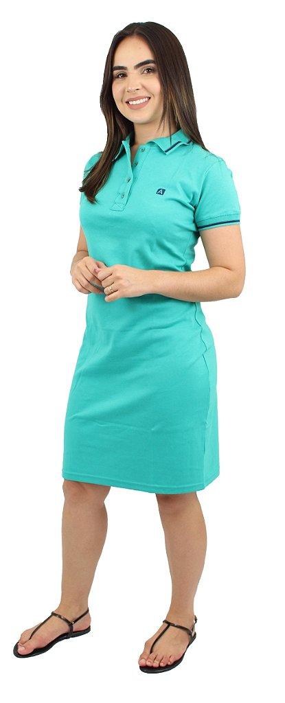 f3c4bafac Vestido Gola Polo Malha Verde Ref.9003 - Anagrom - Loja de Moda ...