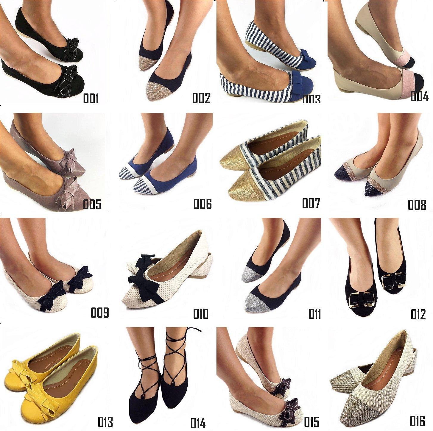 8c97a8bec Sapatilhas Bico Redondo e Bico Fino Atacado e Varejo - Número das  Referências - Tamanho Especial. sapatilha sapatilha preta calçados femininos  ...