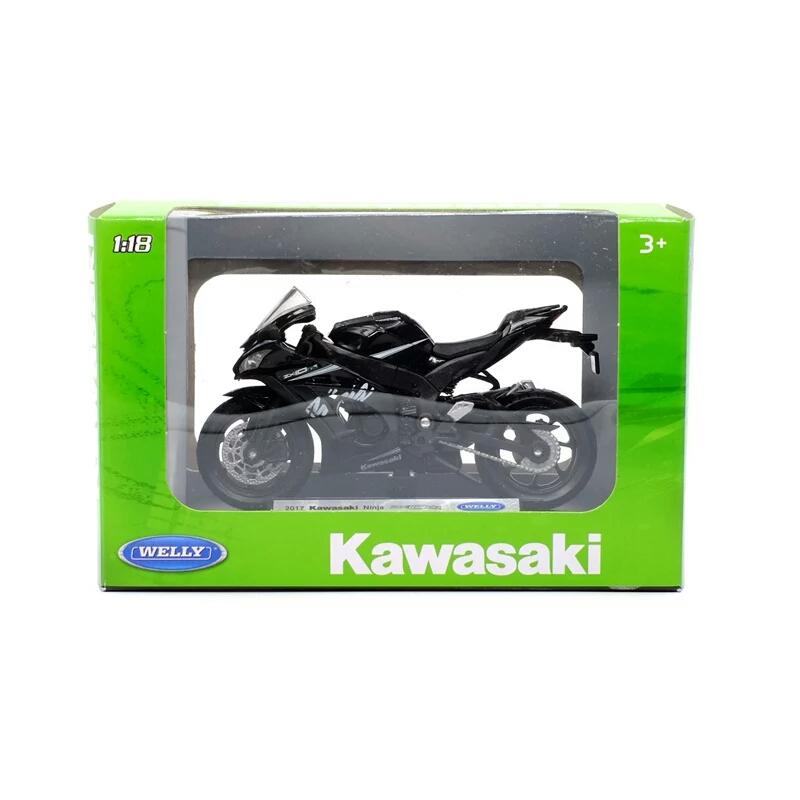 Miniatura Kawasaki Ninja ZX-10RR 2017 Welly 1:18
