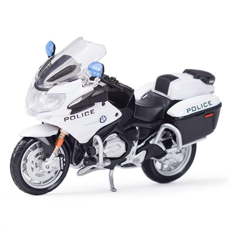 Miniatura BMW R 1200 RT 2016 Polícia Estados Unidos Maisto 1:18
