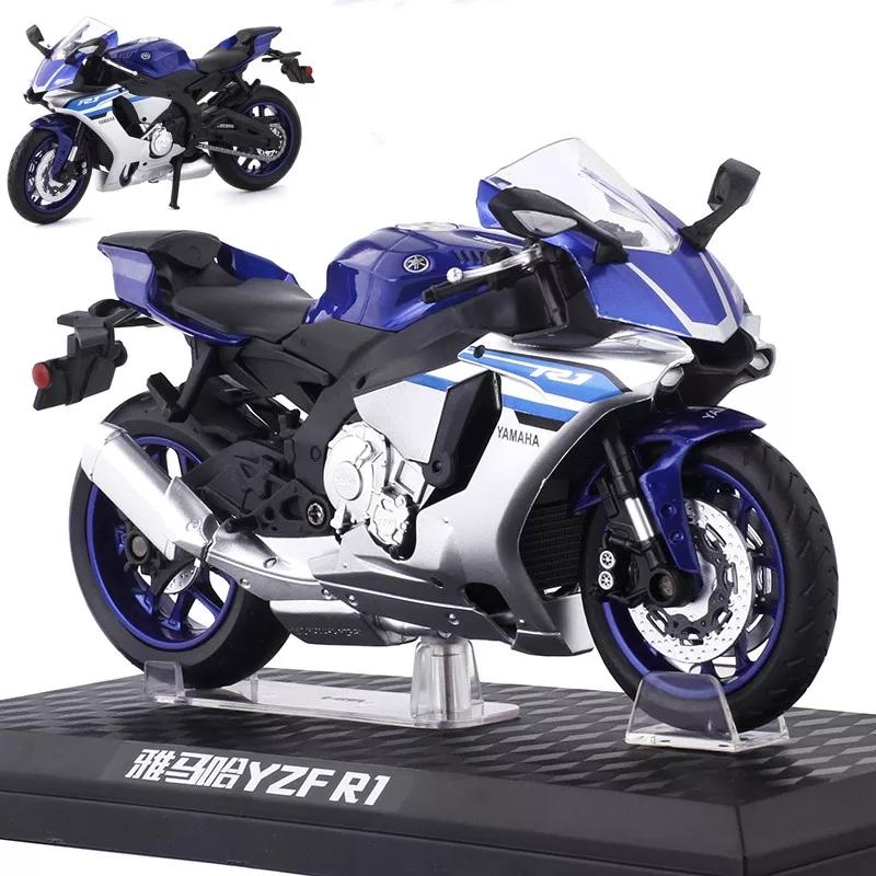 Miniatura Yamaha YZF-R1 Azul Caipo 1:12