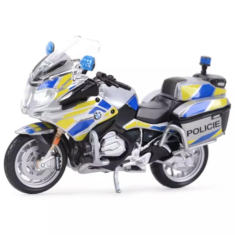 Miniatura BMW R 1200 RT 2016 Polícia Theca Maisto 1:18