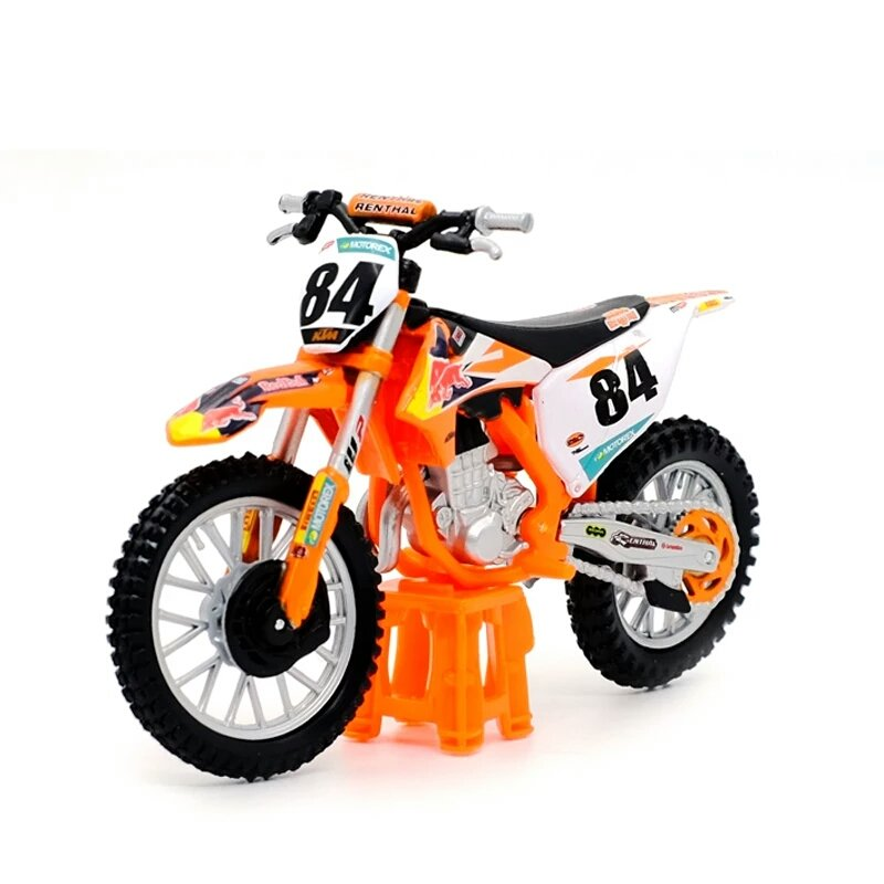 Miniatura KTM 450 SX-F Factory Edition 2018 piloto Jeffrey Herlings 84 Bburago 1:18