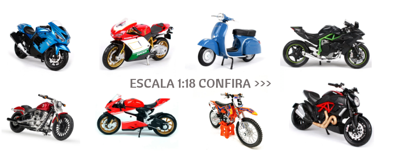 Miniaturas de motos escala 1:18