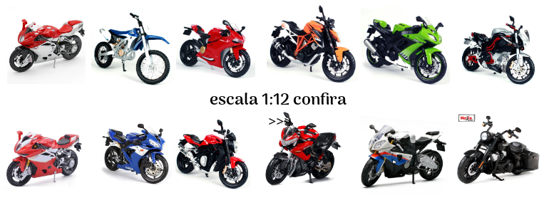 Miniaturas de motos escala 1:12