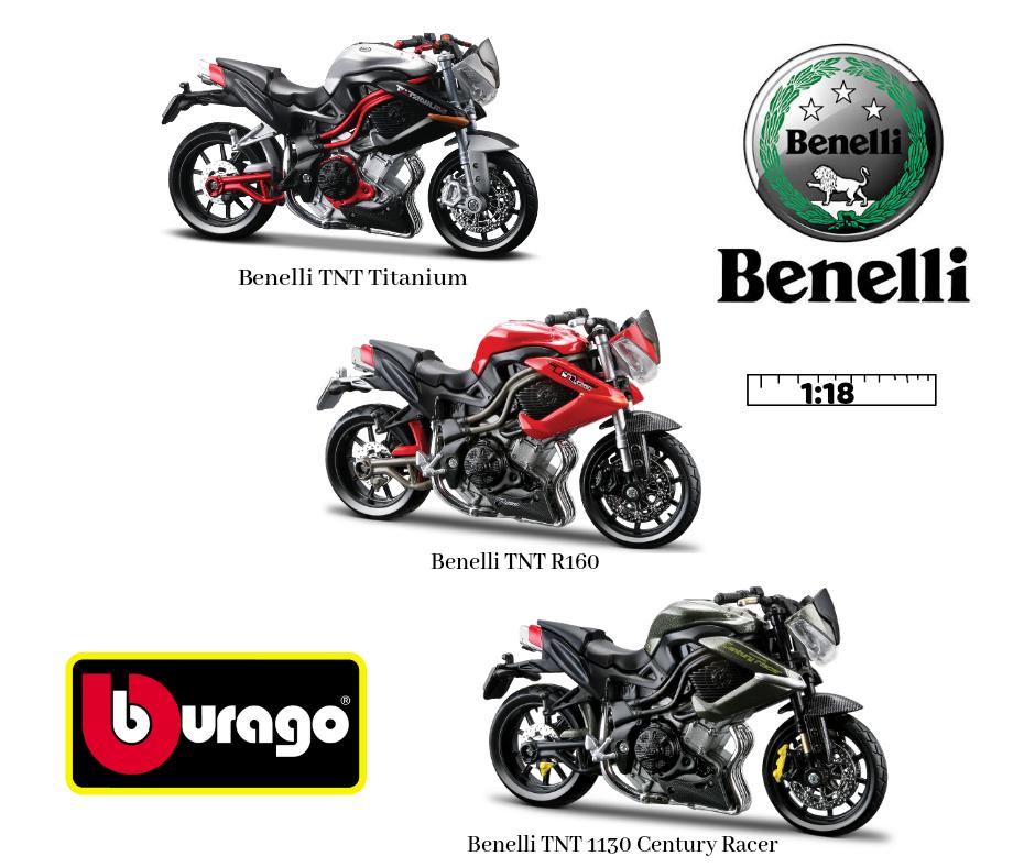 Miniaturas de motos Benelli TNT
