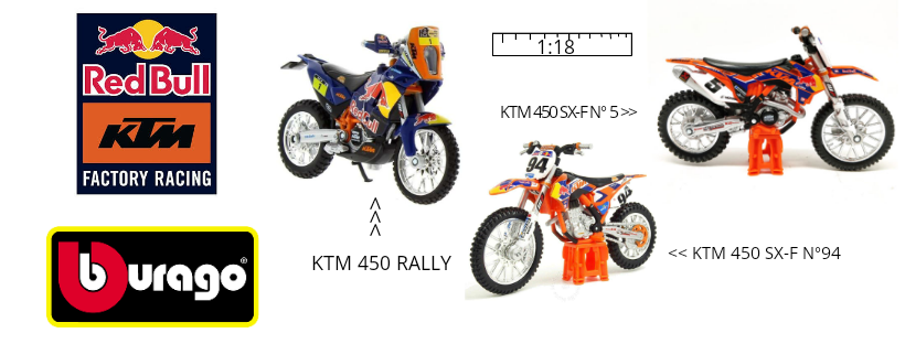 Miniaturas de motos KTM 450 Red Bull Bburago