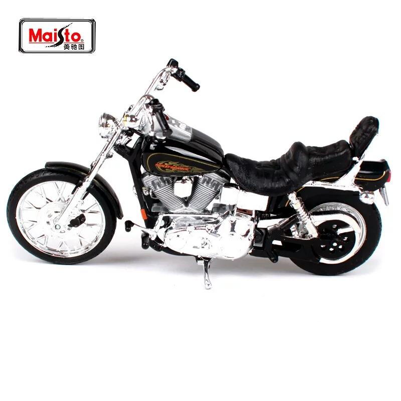 Miniatura Harley Davidson FXDWG Dyna Wide Glide 1997 Maisto 1:18