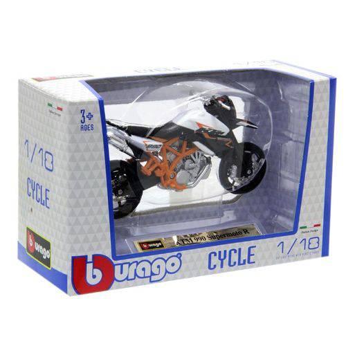 Miniatura KTM 990 Supermoto R 2009 Bburago 1:18