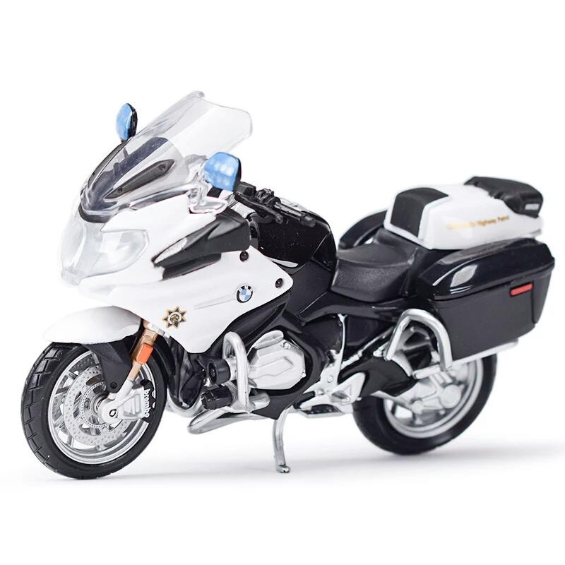 Miniatura BMW R 1200 RT 2016 Polícia Califórnia Maisto 1:18