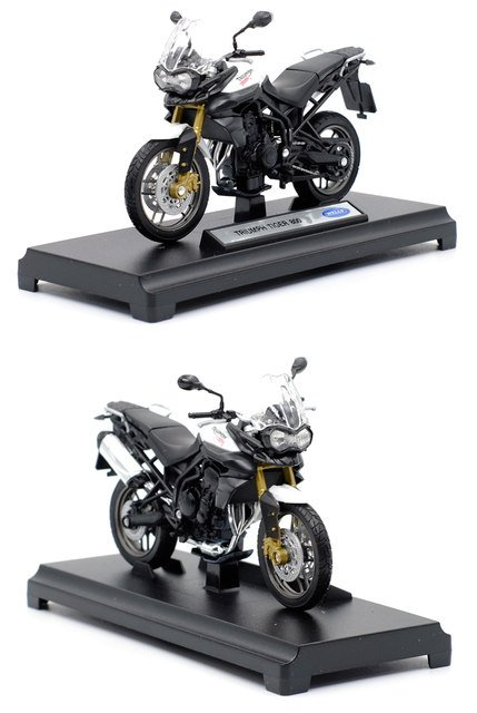 Miniatura Triumph Tiger 800 2012 Welly 1:18