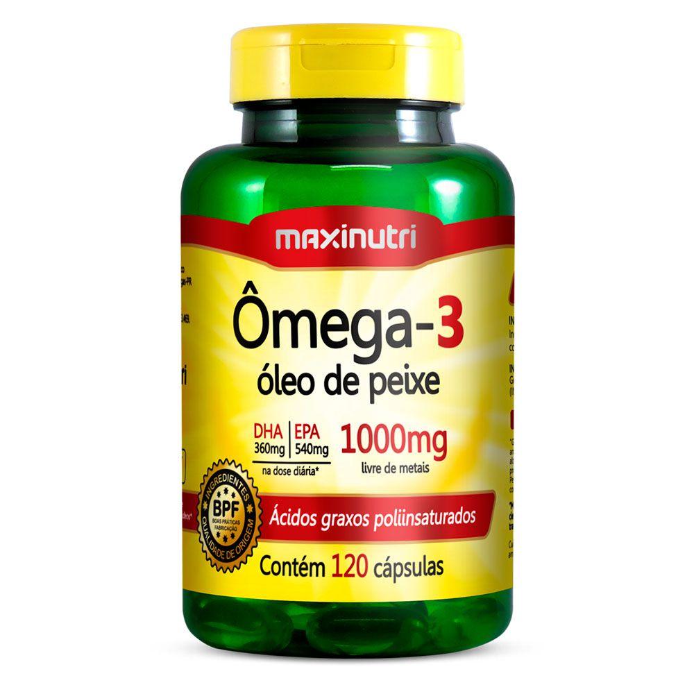 bc236090f Ômega 3 - 120 cápsulas - Maxinutri