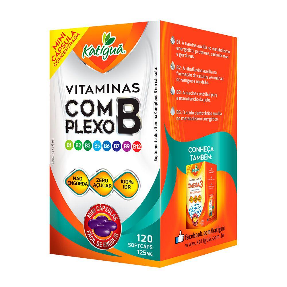 02939bf53 Vitaminas do Complexo B - 120 Cápsulas - Katigua