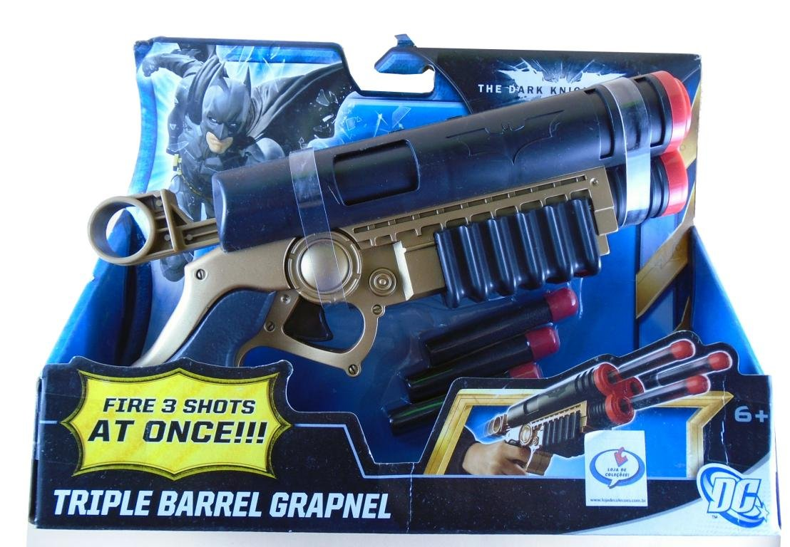 Mattel DC Batman TDKR Triple Barrel Grapnel Estilo Nerf