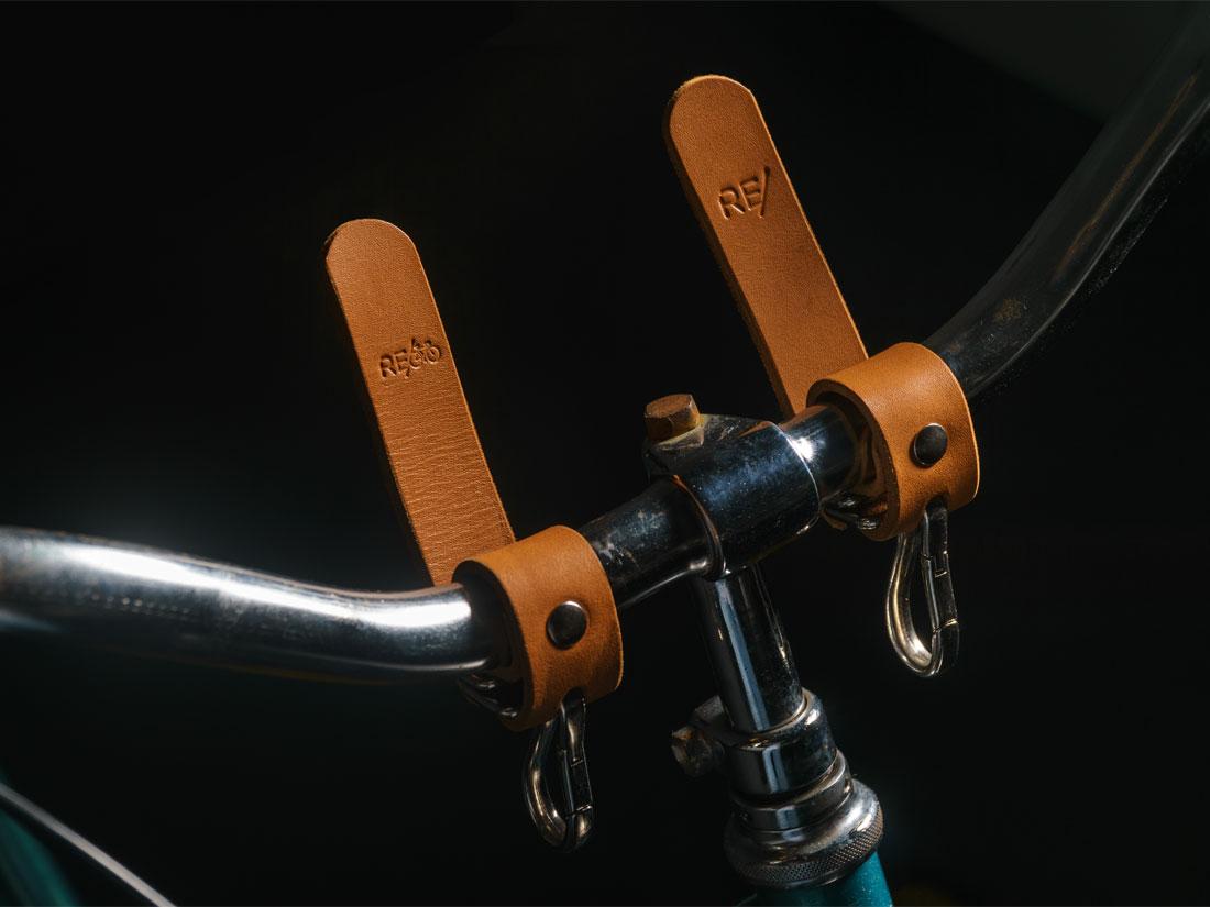 Adaptadores para Bicicleta em couro caramelo