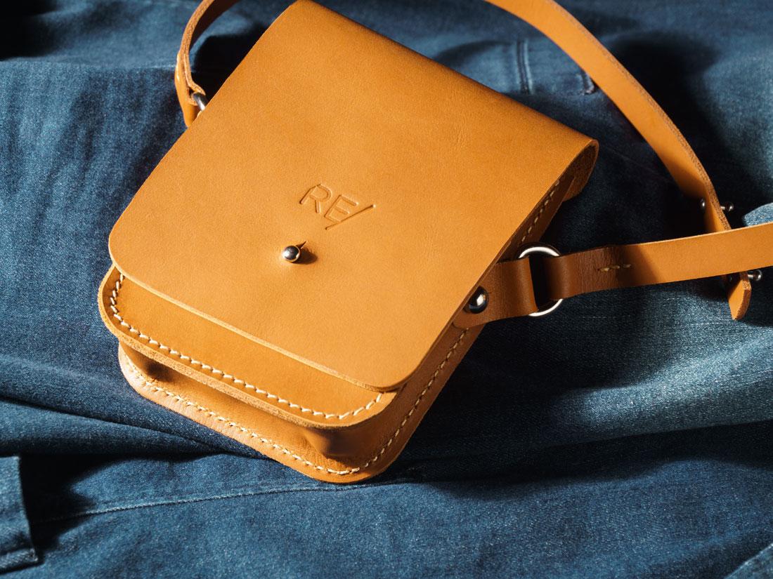 A bolsa Cube pode ser usada pendurada no ombro, a tiracolo ou na cintura como pochete.