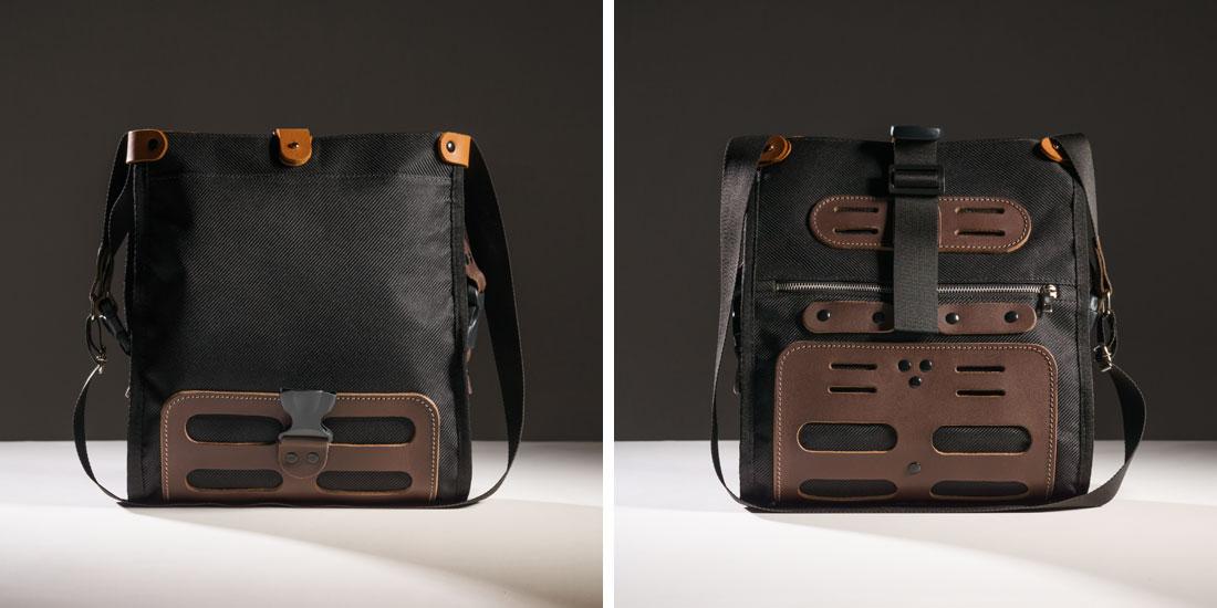Seu sistema de fechamento estilo roll bag pode ser desenrolado para aumentar a capacidade de carga.