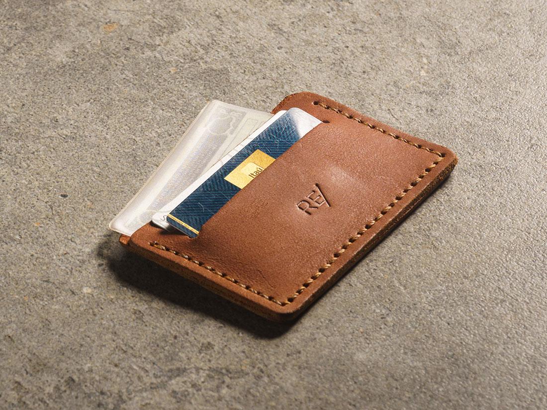 Mini-carteira para CNH e cartoes.