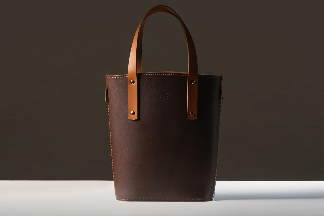 Tote Bag Andaluz em couro marrom Café