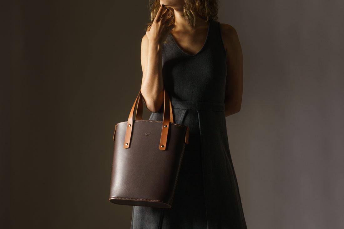 Tote bag Andaluz em couro marrom Café - Feita 100% no Brasil