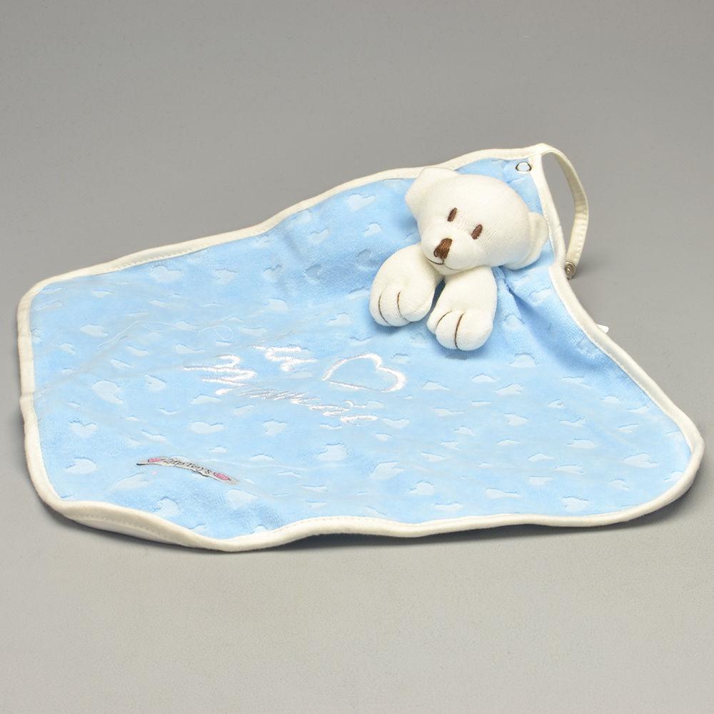 Blanket Cetim Eu Amo Mamãe Azul - Zip Toys