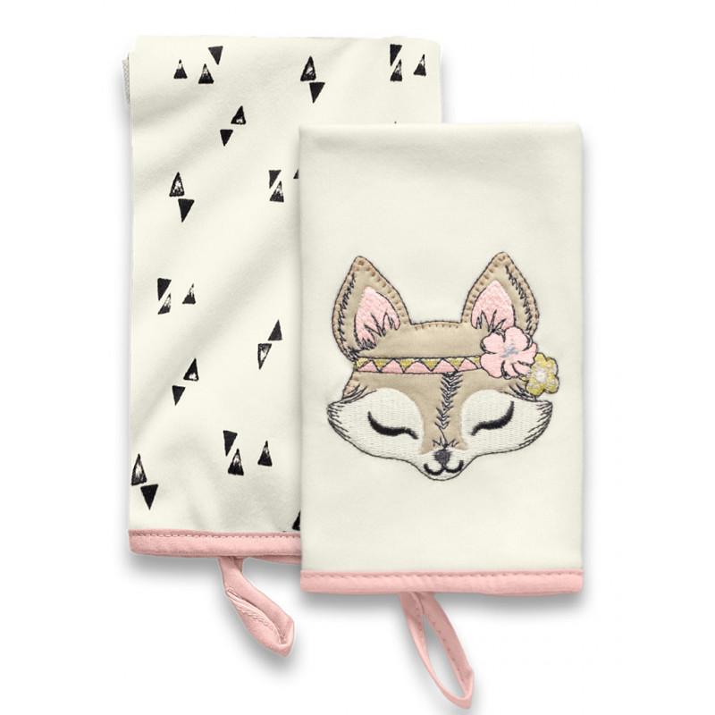 Kit com 2 Babinhas Floresta Encantada Rosa - Hug