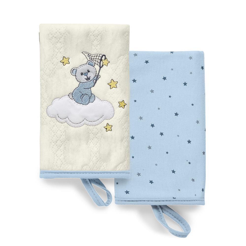 Kit com 2 Babinhas Brilha Brilha Estrelinha Azul - Hug