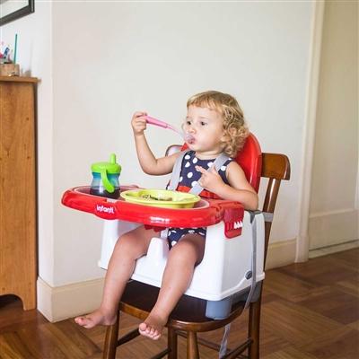 Cadeira de Refeição Portátil Azul - Mila Infanti