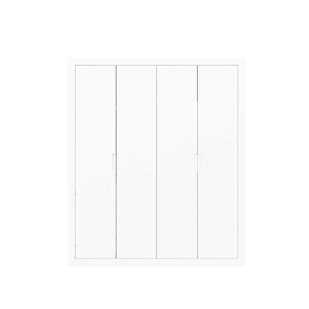 Roupeiro Tutto New 4 Portas Branco Soft - Matic Móveis
