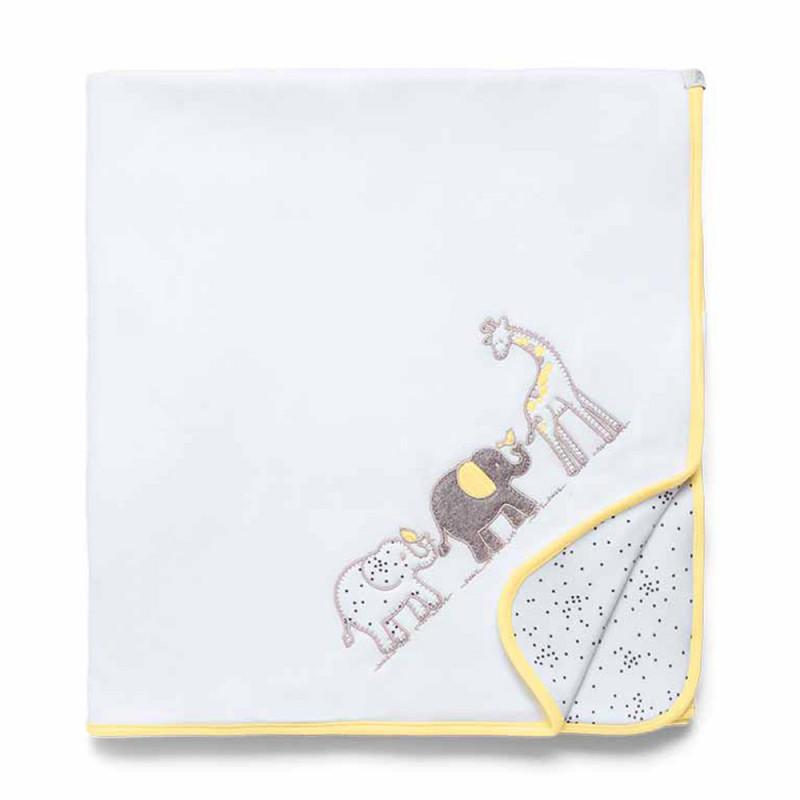 Manta Soft Girafante Amarelo - Hug