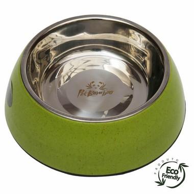 Bebedouro-e-comedouro-canino-de-bambu-e-inox-verde
