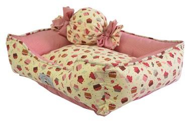 cama-pet-cupcake-bege-vermelho-medio