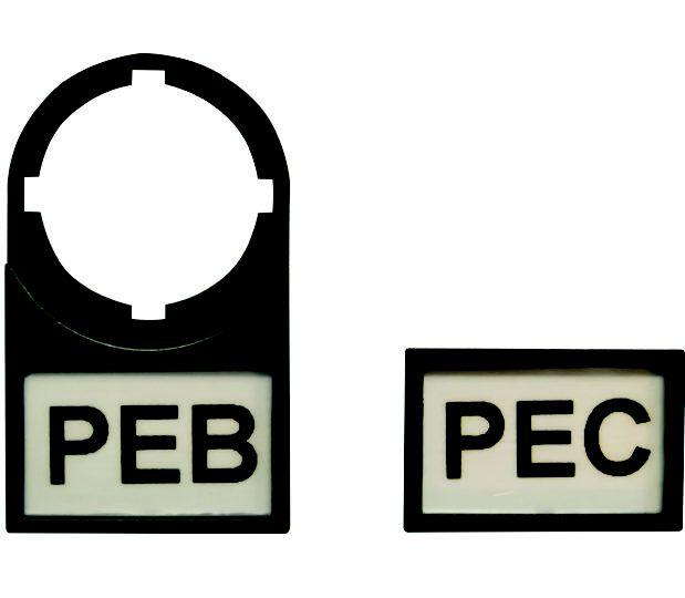 Porta Etiqueta 27x15mm para Botão 22,5mm Peb-27x15 Proauto