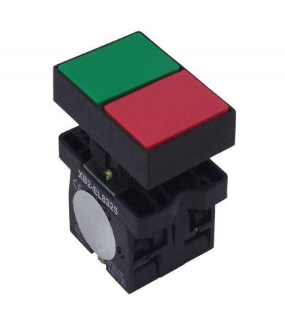 Botão Duplo XB2-EL8325 Sem Iluminação Quadrado Sem Ressalto