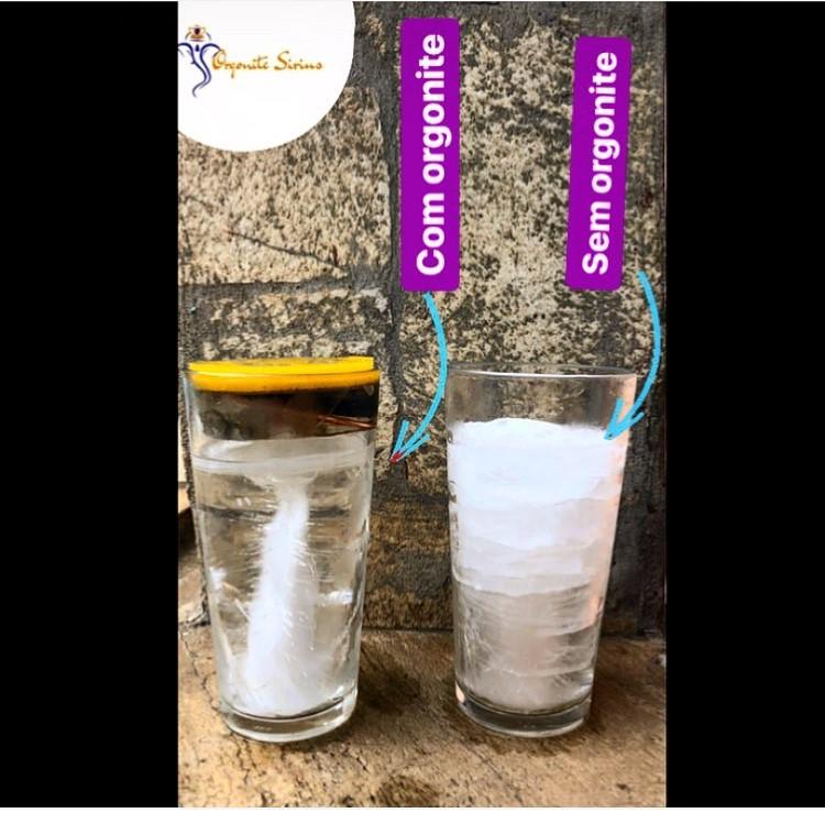 Teste com Orgonite agua
