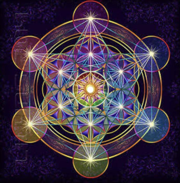 Cubo de metatron geometria sagrada