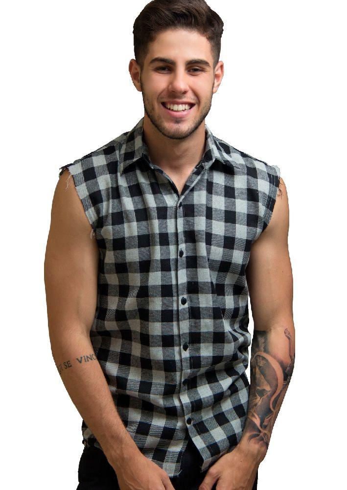 camisa xadrez regata - YA! CLOTHING  407b20e0f5ad7