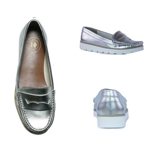 sapato mocassim flatform