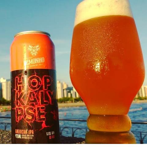 cerveja demonho hopkalypse west coast ipa