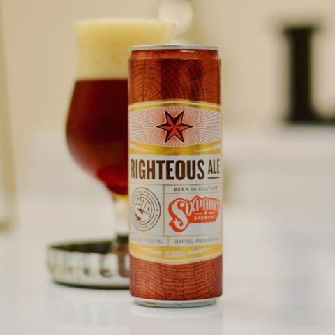 cerveja sixpoint brewery righteous barrel aged rye ale