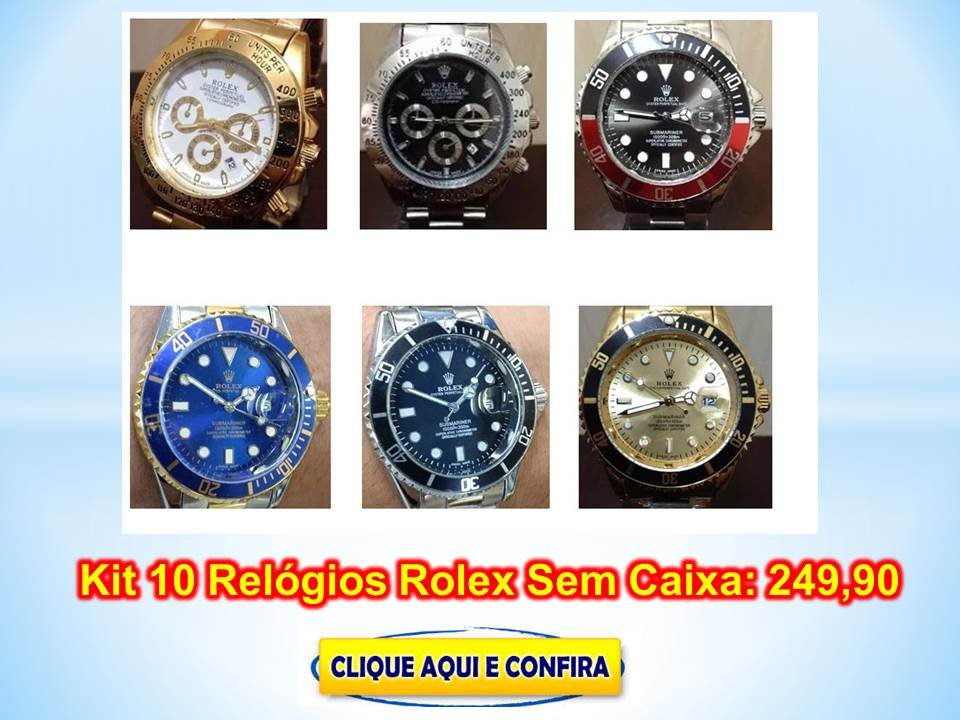 Replica de Relógios Rolex do Baraguai baratos na 25 de Março Atacado