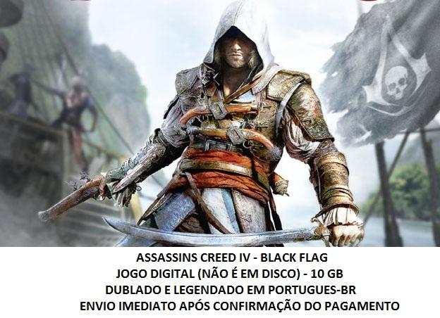comprar assassins creed 4 black flag ac4 dublado pt br