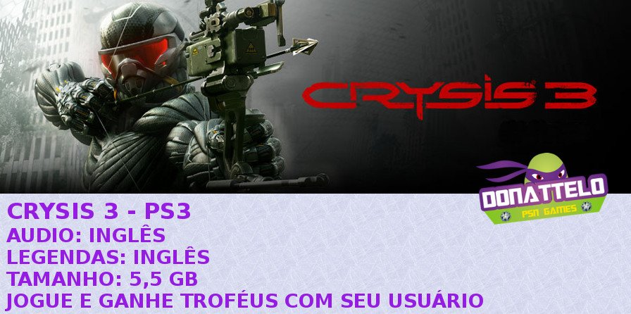 CRYSIS 3 PS3 PSN