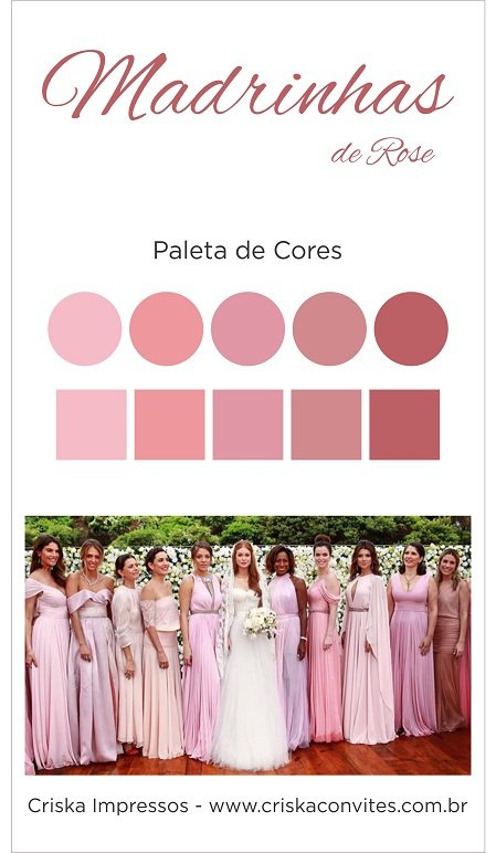 Paleta Madrinhas Rose