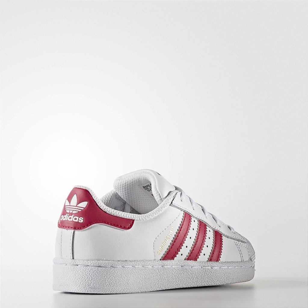 43c7542beea Adidas Superstar Foundation - Branco e Vermelho - PJShopStore - Moda ...