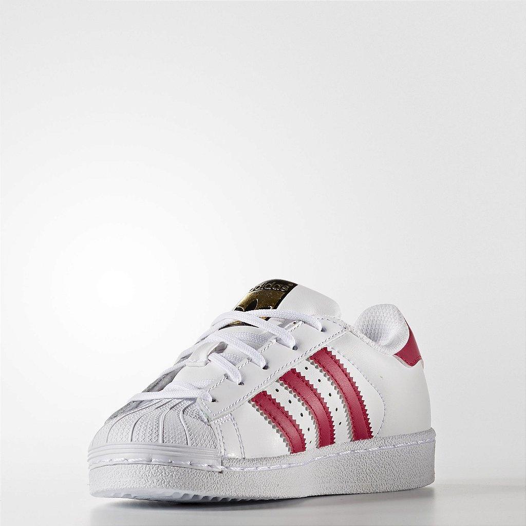 a82b0ac3715 Adidas Superstar Foundation - Branco e Vermelho - PJShopStore - Moda ...