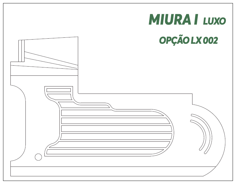 Desenho Miura I Luxo Opção LX 002